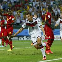 Klose equals scoring record as Germany draws with Ghana