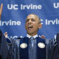 Obama tells graduates climate change deniers are ignoring science