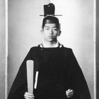 Prince Katsura poses for photo in traditional clothing during his coming of age ceremony in 1968. | KYODO