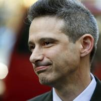 Beastie Boys member Adam Horovitz exits the Federal Court in New York on Thursday. | REUTERS