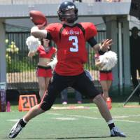NCAA product: Former Louisiana Tech quarterback Colby Cameron is looking for his first X League championship with the Fujitsu Frontiers. HIROSHI IKEZAWA