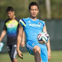 Ready to go: Maya Yoshida is eager to get going at the 2014 World Cup in Brazil.  | AFP-JIJI
