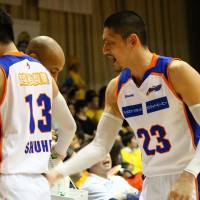 One of the originals: Niigata Albirex BB shooting guard Kimitake Sato (23) was selected in the bj-league's first-ever draft in June 2005. | NORIKO AKAIKE