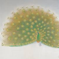 Shoko Uemura's 'Peacock Displaying his Wings' (1983) | THE NATIONAL MUSEUM OF MODERN ART, KYOTO