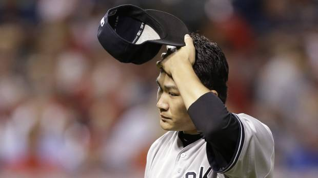 Yankees' Tanaka on DL due to elbow inflammation