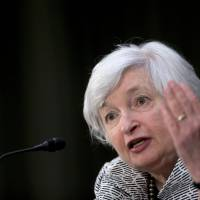 Wall St. retreats on Yellen's comments on valuations