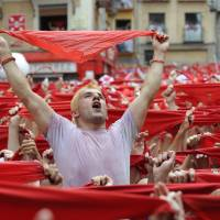 Daredevils flock to launch of Spain's Pamplona bull-running festival