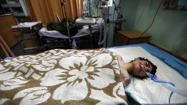 Horror as Gaza handicapped care facility bombed