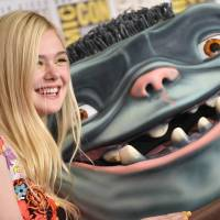 Actress Elle Fanning attends the press line for 'Boxtrolls' on the third day of the annual Comic-Con, at the San Diego Convention Center in California, on Saturday. | AFP-JIJI