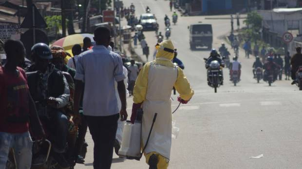 First Ebola victim in Sierra Leone's capital on the run