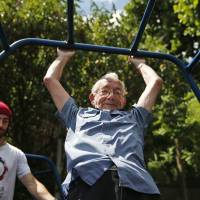 London seniors take up 'parkour'