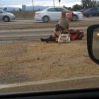 Video of LA cop punching woman on roadside spurs police probe