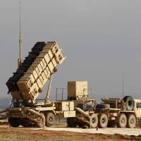 U.S. Patriot missile systems, such as this one at a Turkish military base in Gaziantep, are among the weapons included in an arms deal between Washington and its Gulf ally, Qatar, that's valued at $11 billion. | REUTERS
