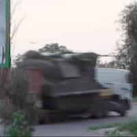 This image made from video provided by the Ukrainian Interior Ministry on July 18 shows a truck the ministry says was carrying a Buk missile launcher with what appears to be one of its four missiles missing. The ministry said the video was made by a police surveillance squad at dawn the same day as the vehicle was heading to the Ukrainian city of Krasnodon, toward the Russian border. | AP
