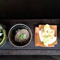 Kazahana's truffle soba and seasonal delicacies. | ROBBIE SWINNERTON