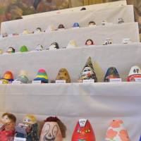 Self-righting Fukushima dolls on display at U.K. Parliament