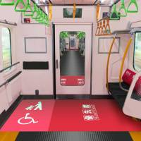 "All cars in a new train series that will be introduced next year on Tokyo's busy Yamanote Line will feature a ""free space"" large enough to accommodate baby strollers and wheelchairs. 