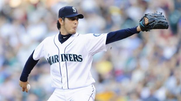 Athletics can't solve Iwakuma