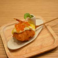 Pancotei: 'Kushikatsu' morsels prepared with obsessive care