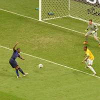 Quick strike: The Netherlands' Georginio Wijnaldum scores against Brazil in the third-place game on Saturday in Brasilia. | AFP