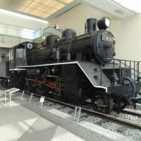 A locomotive that ran on the Thai-Burma Railway has pride of place in the entrance hall. | GIANNI SIMONE