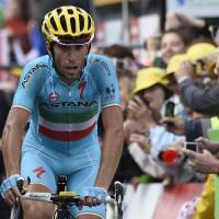 Pedal to the metal: Vincenzo Nibali has put himself in a good position to challenge for the Tour de France crown. | AFP