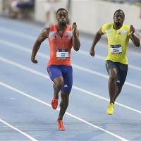 Gatlin, Gay to face off in 200 meters in Monaco