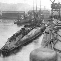 A German submarine that was captured in Hawaii in 1914 is moored in Kagoshima. | KYODO