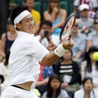 Got the advantage: Kei Nishikori is beginning to feel like he can compete with the top players on the ATP Tour. | KYODO