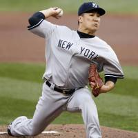 Make it a dozen: New York's Masahiro Tanaka picked up his 12th victory of the season against Minnesota on Thursday. | KYODO