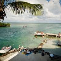 Life's a beach: Caye Caulker is a sandy strip of land surrounded by a bounty of sea life. | AP