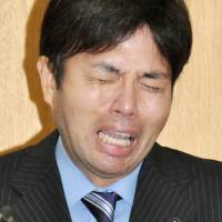 Cry me a river: Hyogo Prefecture politician Ryutaro Nonomura cries while apologizing for misuse of taxpayer's money made international headlines. | KYODO