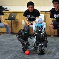 Soccer-playing robots eye their own world cup