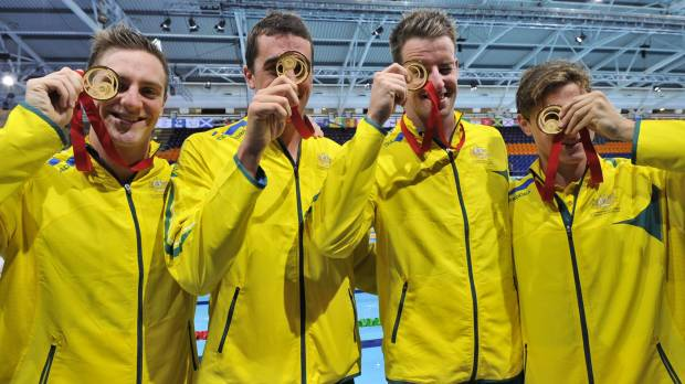Australia captures more Commonwealth pool gold