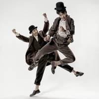 "Tokio (left) and Tasuku as the central characters Estragon and Vladimir, respectively, in the upcoming production of ""Waiting for Godot."""
