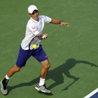 Nishikori beats Querrey to make 3rd round at Citi Open