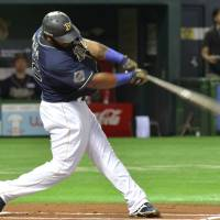Pena slugs 20th homer as Buffaloes climb back into first place