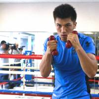 Preparation: Boxer Ryota Murata, who's 4-0 since turning pro, held a two-week training camp in Big Bear, California, earlier this month. He faces Mexican fighter Adrian Luna on Sept. 5 at Yoyogi National Gymnasium. | KAZ NAGATSUKA