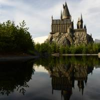 The 'Wizarding World of Harry Potter' attraction is seen at Universal Studios Japan in Osaka on Thursday. | BLOOMBERG
