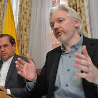 Julian Assange hopes to exit embassy in London if U.K. lets him, spokesman says