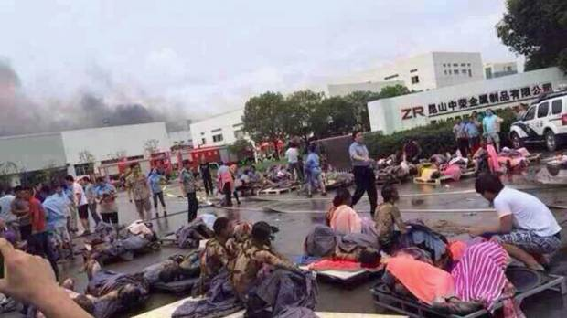 Eastern China factory blast kills at least 65, wounds 150
