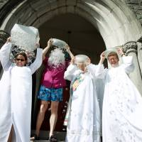 In India, rice replaces ice in charity bucket challenge