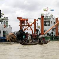 Hunt starts for massive bell in Myanmar river