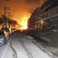 Powerful Taiwan gas explosions kill 24, injure 271
