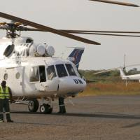 U.N. helicopter shot down in South Sudan; three dead