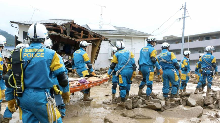At least 18 dead in Hiroshima landslides, floods