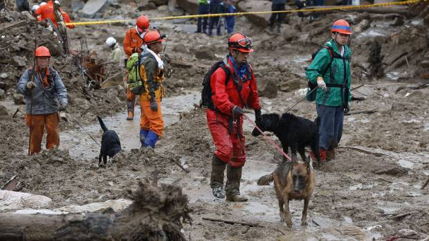 Hiroshima search delayed by heavy rain; Abe under fire