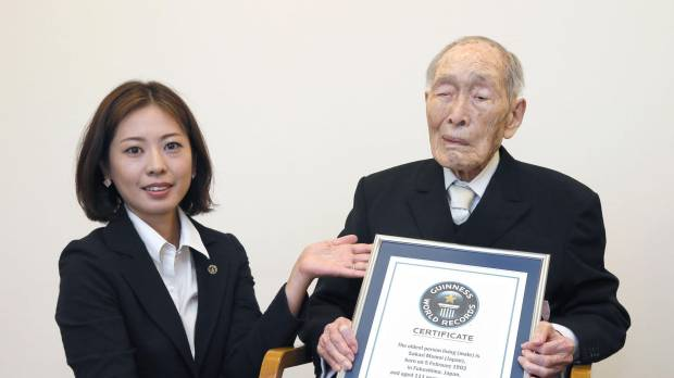 Japanese recognized as world's oldest man by Guinness World Records