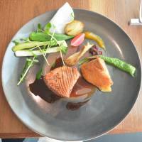 Creative cooking: A dish of duck and vegetables drizzled in ume and honey sauce at EO, a new restaurant run by celebrated chef Hiroshi Yamaguchi. | J.J. O'DONOGHUE