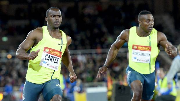 Carter wins Stockholm 100 meters
